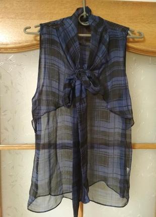 Шикарная шифоновая блуза топ от topshop, p. 381 фото