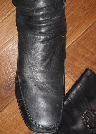 Натуральные зимние сапоги, кожаные на цегейке ст.25,5 см5
