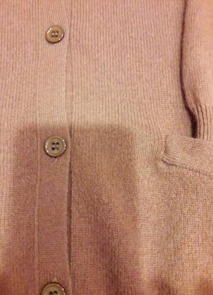Кашемировый кардиган цвета охры4 фото