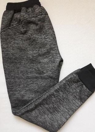 Суперовые тёплые с начёсом меланжевые спортивные брюки youlanyasi4
