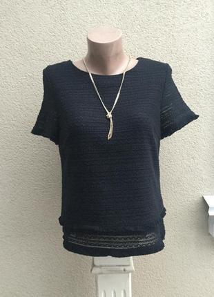 Чёрная блуза,кофточка фактурная с бахромой в стиле шанель1 фото