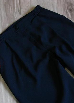 Легкие брючки с высокой посадкой,. зауженные к низу цвет темно синий р-р eur 423