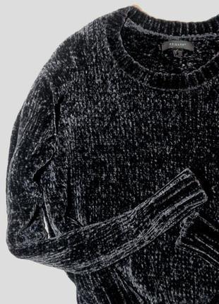 Шикарный велюровый бархатный свитер1 фото