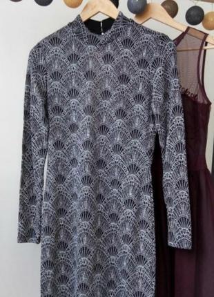 Шыкарное платье с длинным рукавом и вырезом на спине открытая спинка2 фото