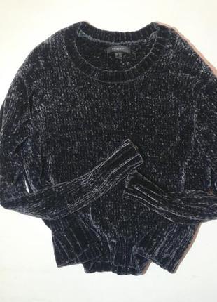 Шикарный велюровый бархатный свитер2 фото