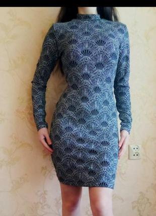 Шыкарное платье с длинным рукавом и вырезом на спине открытая спинка3 фото