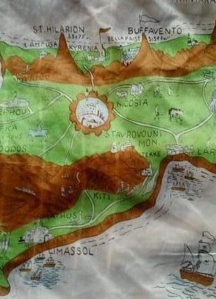 Платок карта история  кипра1