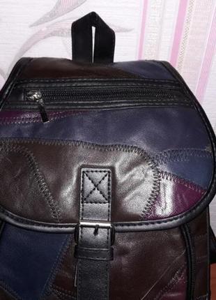 Кожаный рюкзак2