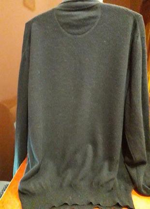 Кашемировый свитер черного цвета2 фото