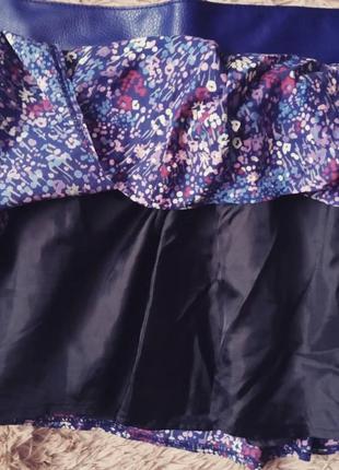 Пышная юбка с кожаным ремнем2