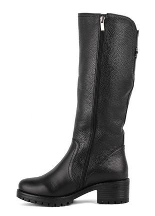 977цп женские сапоги attico,кожаные,на толстом каблуке,на каблуке,на низком ходу2