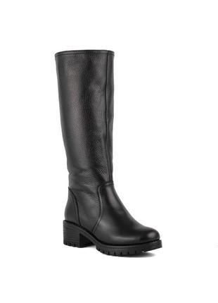 977цп женские сапоги attico,кожаные,на толстом каблуке,на каблуке,на низком ходу1 фото
