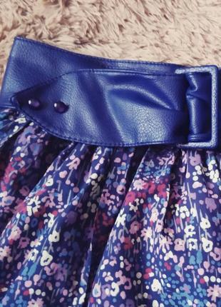 Пышная юбка с кожаным ремнем3