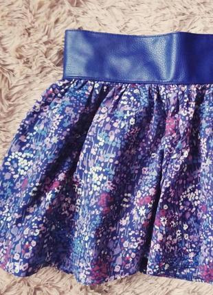 Пышная юбка с кожаным ремнем4