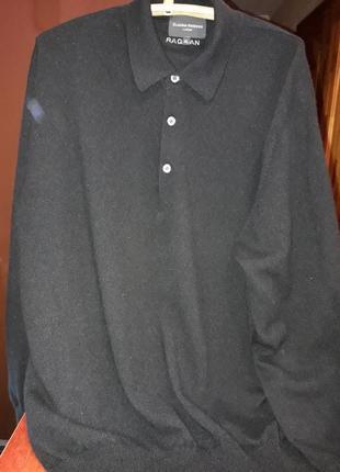Кашемировый свитер черного цвета1 фото