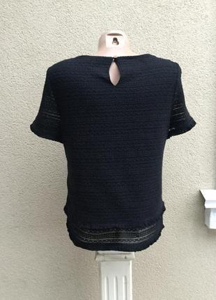 Чёрная блуза,кофточка фактурная с бахромой в стиле шанель3 фото