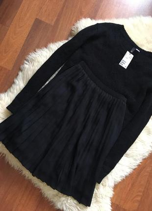 Актуальная юбка плиссе от uniqlo, размер xs-s3 фото