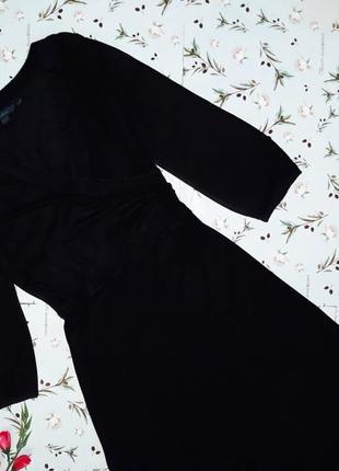 Шикарное фирменное черное платье миди boden, размер 48-504
