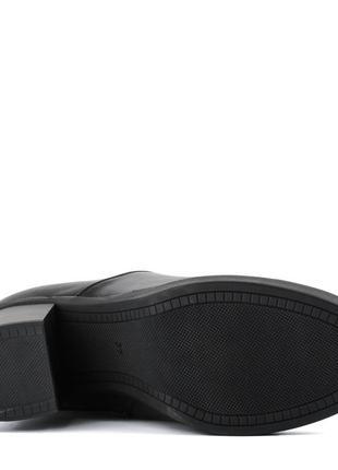 976цп женские сапоги attico,кожаные,на толстом каблуке,на каблуке,круглый носок5