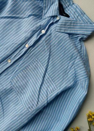 Трендовая удлиненная рубашка в полоску,хлопковая рубашка,блузка для офиса atmosphere2