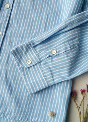 Трендовая удлиненная рубашка в полоску,хлопковая рубашка,блузка для офиса atmosphere5