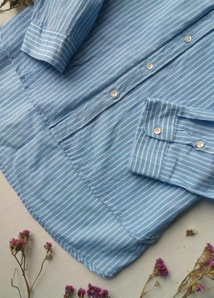 Трендовая удлиненная рубашка в полоску,хлопковая рубашка,блузка для офиса atmosphere3