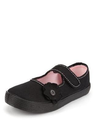 Балетки туфли текстильные тапочки мокасины m&s р.29 18,5 см