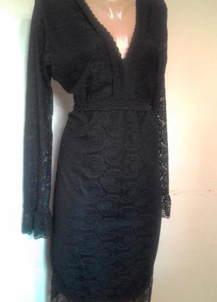 Ажурне плаття на довгий рукав.1 фото