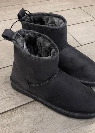 Серые тёплые угги под замш house угг на меху зимние сапоги сапожки есть размеры1 фото