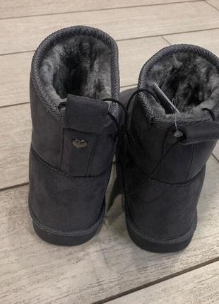 Серые тёплые угги под замш house угг на меху зимние сапоги сапожки есть размеры3 фото