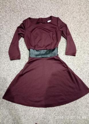 Платье нарядное марсала1