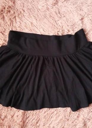 Пышная юбка с широким поясом резинка