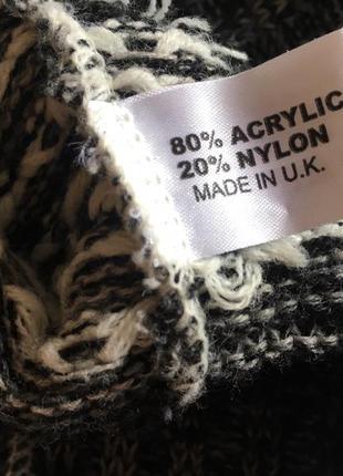 Вязаная теплая туника без рукавов свитер джемпер свитшот удлиненный s m dream англия5
