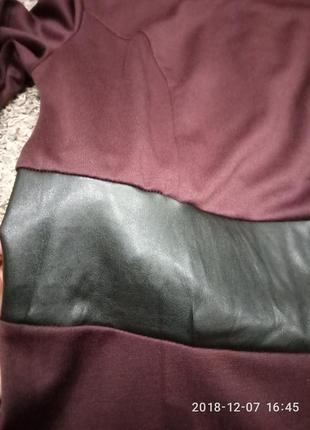 Платье нарядное марсала4