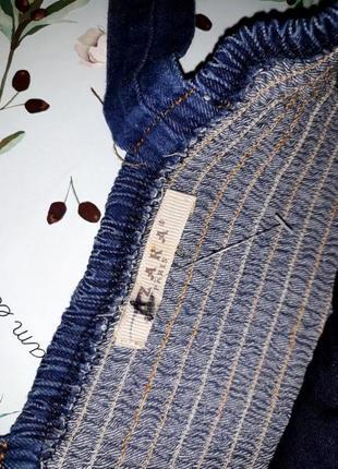 Шикарное фирменное платье zara с джинсовым верхом, размер 46-484