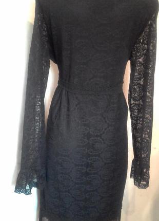 Ажурне плаття на довгий рукав.4 фото