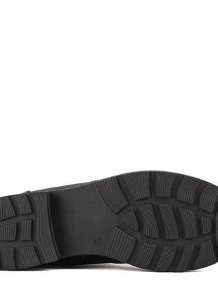 973цп женские ботинки attico,кожаные,на каблуке,на толстой подошве,на низком ходу5