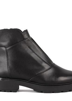 973цп женские ботинки attico,кожаные,на каблуке,на толстой подошве,на низком ходу3