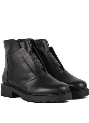 973цп женские ботинки attico,кожаные,на каблуке,на толстой подошве,на низком ходу1