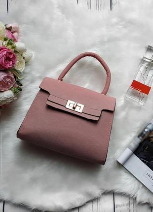 Новая классная розовая пудра сумочка клатч с длинной ручкой