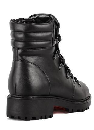 972цп женские ботинки attico,кожаные,на каблуке,на толстой подошве,на низком ходу4