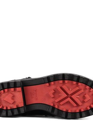 972цп женские ботинки attico,кожаные,на каблуке,на толстой подошве,на низком ходу5
