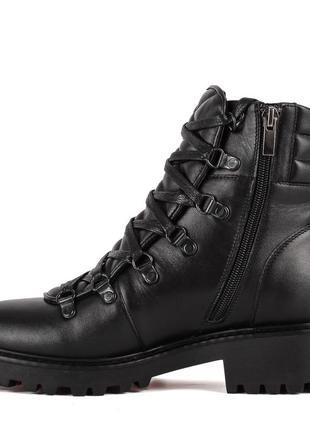 972цп женские ботинки attico,кожаные,на каблуке,на толстой подошве,на низком ходу2