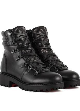 972цп женские ботинки attico,кожаные,на каблуке,на толстой подошве,на низком ходу
