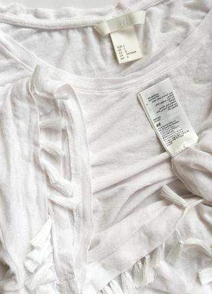 Богемная бохо футболка кисти блузка с кружевом h&m4
