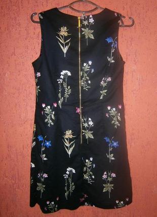 Очаровательное платье -футляр , сарафан,   в цветы хлопок на подкладке2