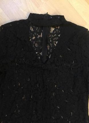 Кружевная блузка з чокером zara1