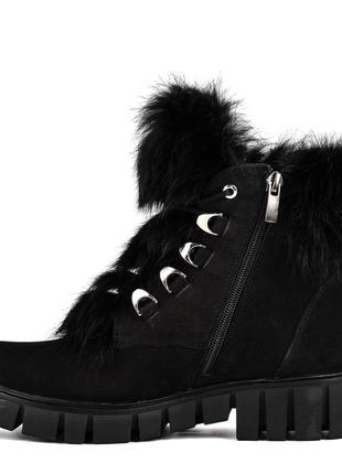 970цп женские ботинки zummer,на каблуке,на толстой подошве,на низком ходу3