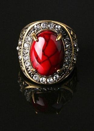 Красивое коралловое кольцо, 18 р., новое! арт.89804