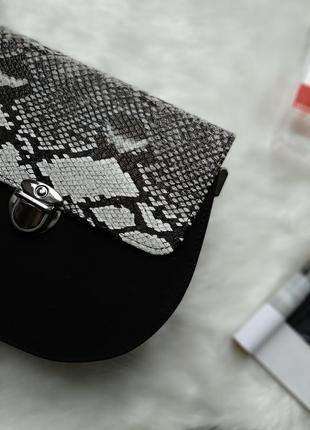 Новая черная сумка клатч с длинной ручкой2